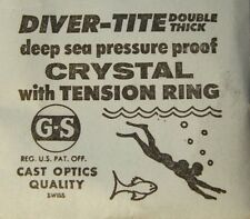GS Diver-Tite Deep Sea Pressure Proof Crystals with Tension Ring 29.8 - 34.9 mm