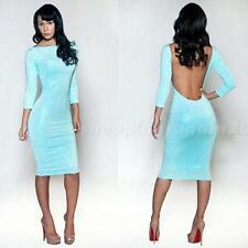Lady Nightclub Party Backless Sequined Sexy Bandage Slim Dress Cocktail Evening