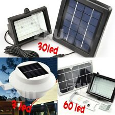 Solar Power 3/30/60 LED Bright Outdoor Garden Fence Gutter/Spot Flood Light - AU