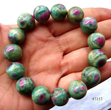 Natural Ruby in Zoisite Round Beads Stretch Bracelet 14mm