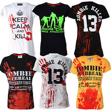 Darkside Clothing Women''s ZOMBIE HOLOCAUST T-Shirts Collection Street Fashion