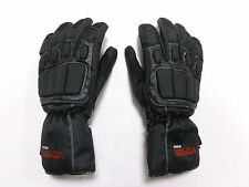 WATERPROOF LEATHER GLOVES RS VECTOR MAX WARM MOTORBIKE SCOOTER   BLACK NEW