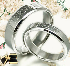 Anywords  His and Her Matching Wedding Ring 063A1