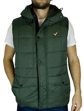 New Mens Voi Jeans Designer Quilted Protect Gilet Protect Rifle Green