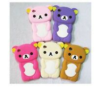 New Cute 3D Soft Silicon Bear Back Skin Cover Case For IPOD TOUCH 4 4G 4TH GEN