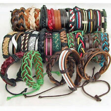 MENS SURFER BRACELET LEATHER SURF WRISTBAND TRIBAL WOMENS FASHION HIPPY NEW REAL