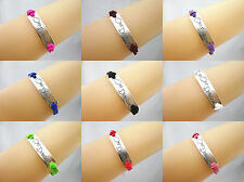 Hot 1D One Direction Retro Silver Fashion Charms Faux Suede Bracelet Select