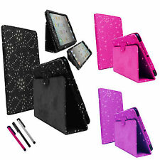 DIAMOND BLING SPARKLY LEATHER FLIP CASE COVER FOR APPLE iPAD 1 1st Generation