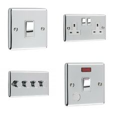 Polished Chrome Switches and Sockets White Trim (Windsor)