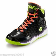 ZUMBA® ENERGY PUSH HIGH TOPS SHOES TRAINERS HIP-HOP w Z-Slide DANCE ANY SURFACE