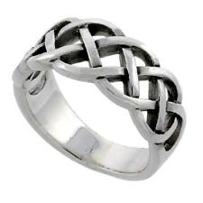 Sterling Silver Celtic Knot Wedding Band Thumb Ring