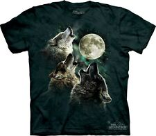 Three Wolf Moon T-Shirt by The Mountain. Famous 3 Wolves Meme Sizes S-5XL NEW