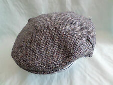 SCOTTISH WORKING MENS HAT HAND WOVEN 100% PURE WOOL HARRIS TWEED FLAT CAP