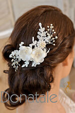 Ivory Hair Comb Bridal Headpiece Wedding hair piece Bridal Headband Fascinator