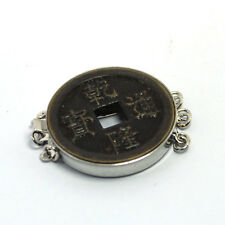 Vintage China Chinese Old Antique Coin Jewelry Clasp 3 Strand-- Jewelry  Finding