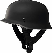 Fly Racing 9MM Half Helmet Flat Black Mens Harley Davidson CHOPPER BOBBER SPRING