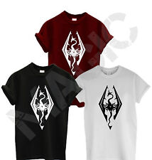Mens Skyrim Elder Scrolls Oblivion Logo Inspired T Shirt Gaming XBox PS3 PS4 New
