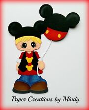 Craftecafe Mindy Disney  vacation Boy premade paper piecing for scrapbook page