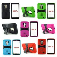 For LG GFLEX  Heavy Duty Rugged Impact Hybrid Case Cover With Kickstand