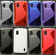 1x New Skidproof Rubber Gel skin case Cover for LG Nexus 4 E960