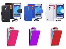 Leather Flip Wallet Case Cover  For Samsung Galaxy S4 I9500 Screen + Protector