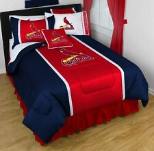 NEW 5pc MLB St. Louis Cardinals Comforter Sheets Bed-in-Bag FULL/QUEEN Bedding