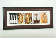 Creative Letter Art - Framed Music w/ Original Alphabet Photos Including Stand