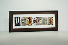 Creative Letter Art - Framed Welcome Created w/ Architectural Alphabet Photos
