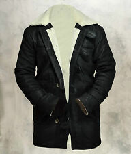 BANE Dark Knight Rises Genuine Cowhide Leather Matt Finish Black Jacket/Coat