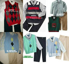 * NWT NEW BOYS Nautica GOOD LAD Arglye Sweater Vest Set SUIT OUTFIT SET 3T 4T 4