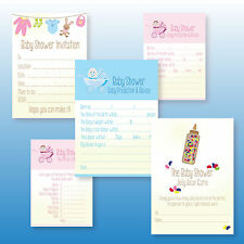 Baby Shower Invitations Invites Games Boys or Girls Activities Baby Predictions