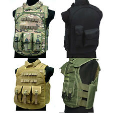 4 Colors Tactical Vests Multi-pocket Adults Multifunction Black Nylon Vests