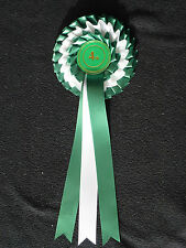 CHOOSE YOUR OWN ROSETTE CENTREBOARD 3 TIER SATIN RIBBON RABBITS, PETS, SCHOOL