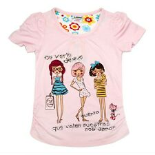New Design Summer O-neck Short Sleeve Cotton T-shirt For Age 1-6Y Girl's Top Tee
