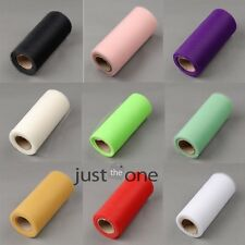 """Tulle Roll Spool 6""""x 25yd Gift Wedding Party Bow Tutu Decoration Craft Colours"""