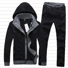 Mens Casual Sports Tracksuit Athletic Apparel Sweat Suit Hooded M-XXL---US BD
