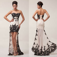Women Retro Evening Maxi Long Gown Prom Ball Party Wedding Formal Dress High-Low