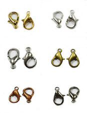Wholesale 120/100/80Pcs 10mm 12mm 14mm Golden&Silver Plated Alloy Lobster Clasps