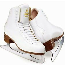 JACKSON ARTISTE.FIGURE SKATES.JUNIOR. ICE SKATES.WHITE.SHARPENED FOR FREE!