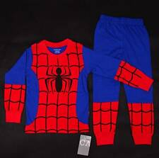 SPIDERMAN SPIDER Boys Toddler Pajamas Kids PJ T-shirt Sleepwear Costume Gift Set