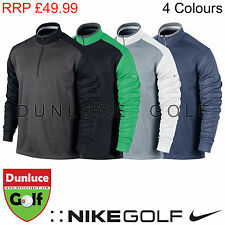 NIKE MENS DRI-FIT 1/2 ZIP COVER-UP TOP - NEW GOLF JUMPER SWEATER THERMAL TENNIS