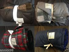 NWT Eddie Bauer Over Size Fleece And Down Throw Four Colors Available 650FP