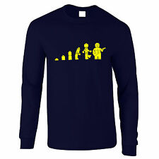 Evolution Of The Guitar Legoman Lego Mens Long Sleeved T-Shirt TS011
