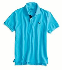 NWT American Eagle Outfitters Mens New AE Contrast Placket Polo Shirt S M LT
