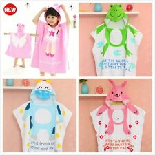1pc Baby Kid Girls Boys Cartoon Beach Bath Towel Bathrobe Clothes Washcloth