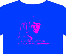 T-Shirt Men New star trek spock vulcan starship enterprise captain kirk greeting