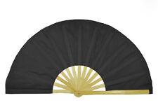 Chinese Kung Fu TaiChi Wushu martial art Performing dance Bamboo Bone Black fan