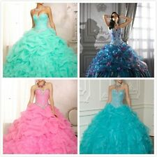 2014 Sweetheart Bead Ball Gown Quinceanera Party Evening Dresses Gown Size 6-18