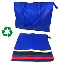 EXTRA LARGE XL Recycled Eco Friendly Grocery Shopping Tote Bag Bags Zipper 20""