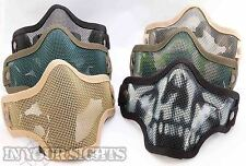 Airsoft / Paintball Half Face Wire Mask 6 Colours Tactical mask + Free UK Post
